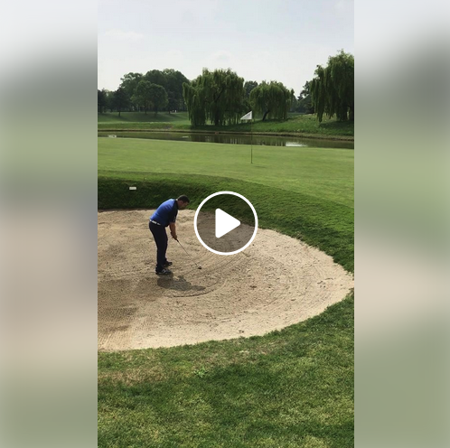 @sterlingironsgolf player and 6.1 handicapper Steve Thom shows off his bunker game with the #sterlingirons #singlelengthirons wedge