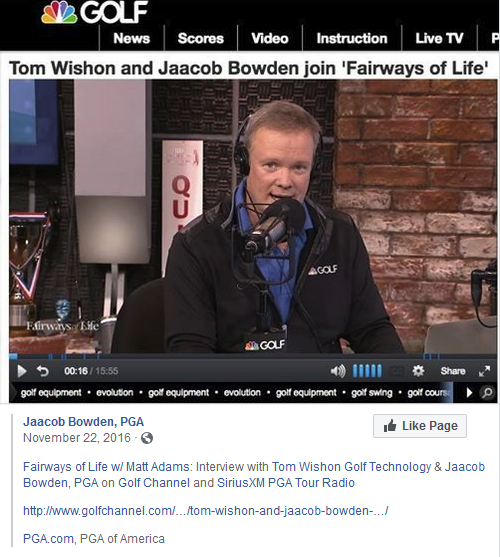 Fairways of Life w Matt Adams Interview with Tom Wishon Golf Technology & Jaacob Bowden, PGA on Golf Channel and SiriusXM PGA Tour Radio
