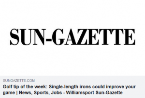 Golf tip of the week Single-length irons could improve your game