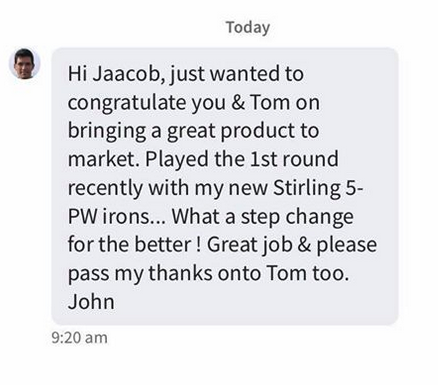 Hi Jaacob, just wanted to congratulate you & Tom on bringing a great product to market