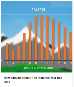 How Altitude Affects The Distance Your Ball Flies