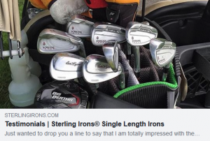 I picked up my new set of Sterling Irons and have played my first 3 rounds while on vacation