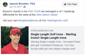 It's statistically easier to make birdies when you hit it close