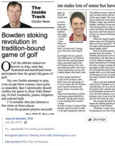 Jaacob Bowden, PGA is stoking a revolution!