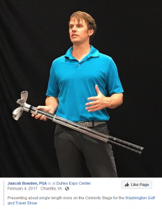 Presenting about single length irons on the Celebrity Stage for the Washington Golf and Travel Show