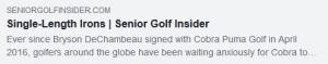 Single Length Irons by Jim Achenbach for Senior Golf Insider