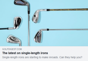 Single-length irons are starting to make inroads. Can they help you.