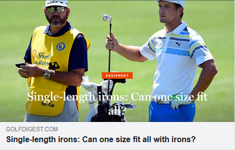 There's a debate over whether everyday golfers should consider using single-length