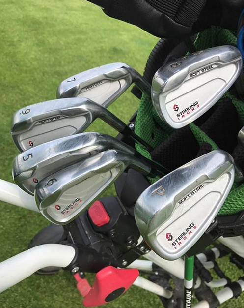 These @sterlingironsgolf #singlelengthirons are looking good in 6.1 handicapper Steve Thom's bag!