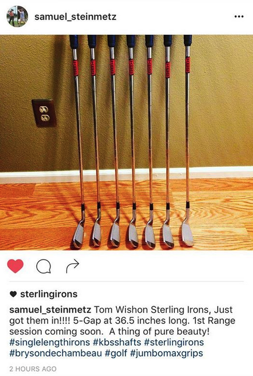 Tom Wishon Sterling Irons, just got them in
