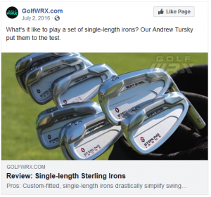What's it like to play a set of single-length irons