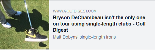 Bryson DeChambeau isn't the only one on tour using single-length clubs