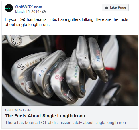 Club fitter/builder Ryan Barath's thoughts on single length irons over at GolfWRX.com