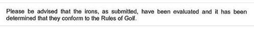 Excellent news from the United States Golf Association - USGA