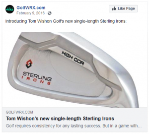 Introducing Tom Wishon Golf's new single-length Sterling Irons