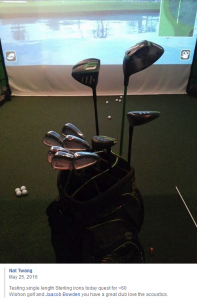 The Sterling Irons® single length irons are looking sweet next to those Krank Golf clubs in Nat Twang's bag