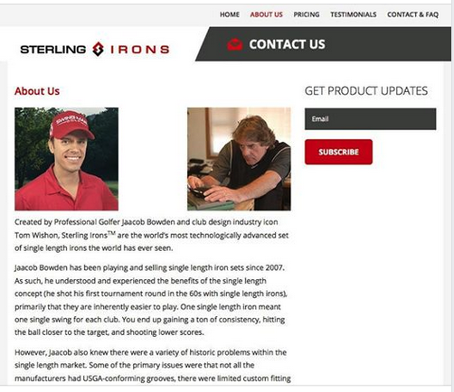 The http://www.SterlingIrons.com website is now live and we are taking US domestic orders