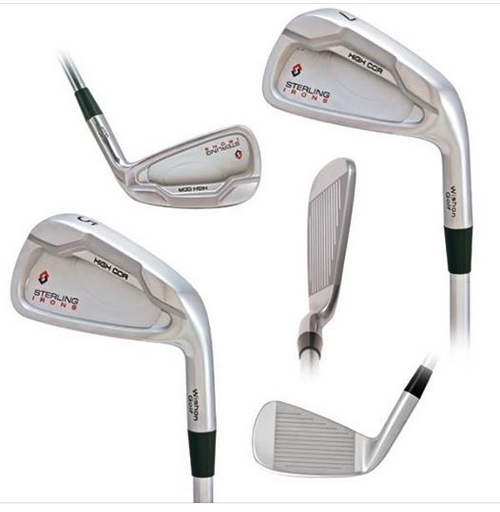 Various views of the high COR 5-Iron to 7-Iron
